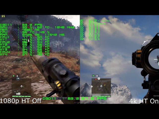 Тестирование Игр в 4К на Xeon E5-2670 и GTX 1070