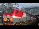 Отправление 2ЭС4К 127 с поездом№282С Адлер Череповец со станции Адлер 26 08 2017