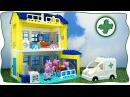 Свинка Пеппа Строительство больницы и История с героями мультика Конструктор BIG как Lego