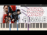 Finale - Star Wars 8 The Last Jedi OST (Synthesia Piano Tutorial)+SHEETS&ampMIDI