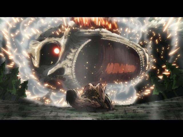 Eren vs Reiner Armored Titan Full Fight | Attack on Titan Season 2「進撃の巨人 Season 2」