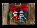 Christmas wreth with elfs | World Of Amigurumi