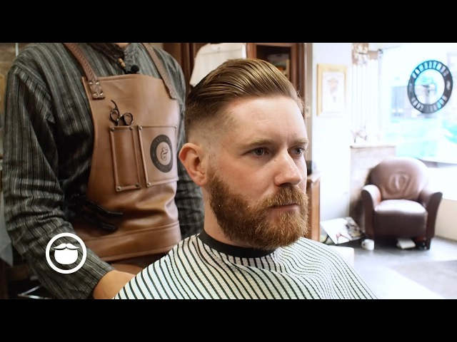 Corporate Pompadour with Skin Fade at the Barbershop