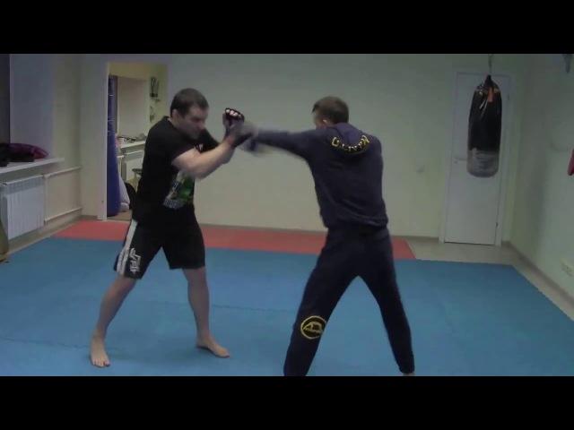 техника блоков от прямых ударов руками и наиболее простые контратаки