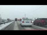 Уборка снега на Горьковском шоссе