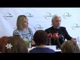 Дмитрий Хворостовский и Элина Гаранча дали пресс-конференцию в Риге