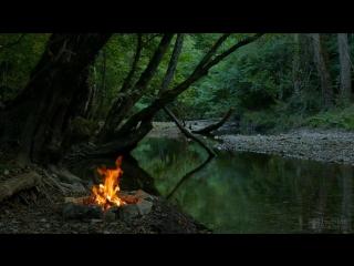 Костёр на берегу ( Звуки Природы ) ...