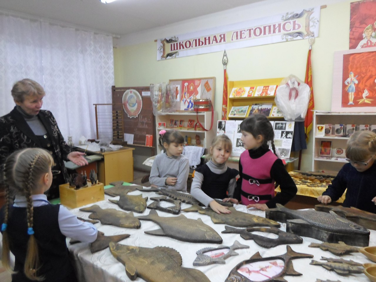 Выставка в музее школы с. Бережное