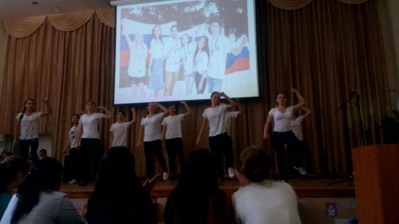 С 2 группа танец Битва полов конкурс Алло мы ищем таланты 2017 год Йошкар Олинский мед колледж