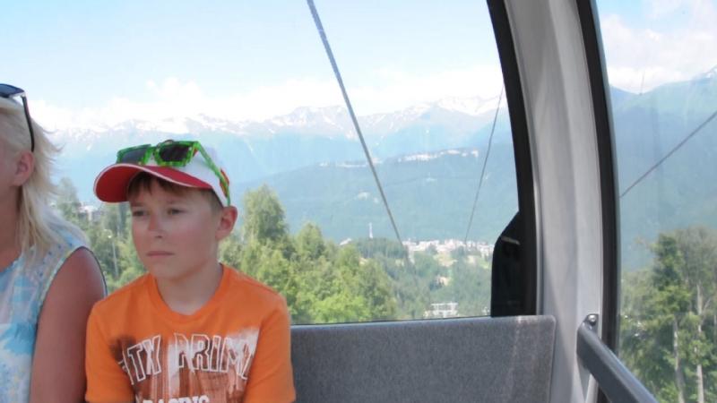 Сочи.Красная поляна.Кавказские горы.