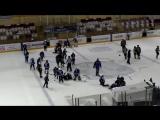 Две массовые драки устроили юные хоккеисты в матче за третье место на детском турнире в Молодечно