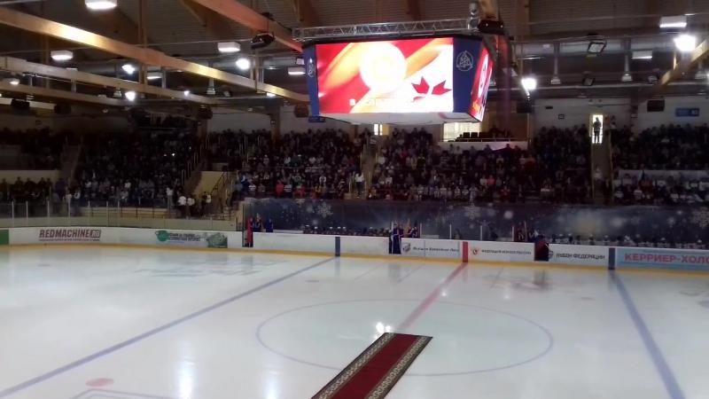 Матч Легенды хоккея СССР - Ветераны хоккея Мордовии Открытие