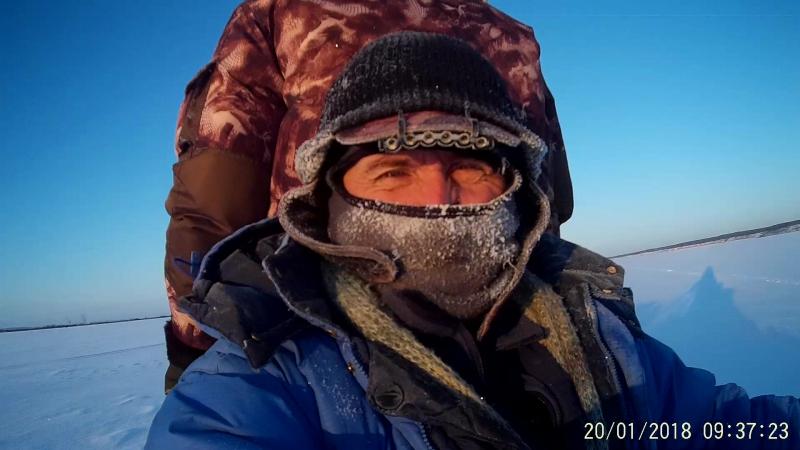 Н-Камское вдхр. Морозное утро. (20.01.2018) На мотособаке