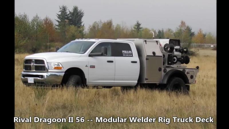 Express Custom Mfg - Rival Dragoon II 56 -- Modular Welder Rig Truck Deck - 9-346