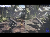Сравнение графики Monster Hunter: World на PS4 Pro и Xbox One X.