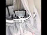 Комплект в кроватку 7 в 1 Кристалл серый подзор
