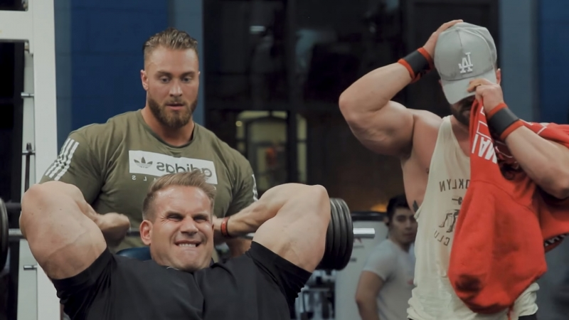 Chris Bumstead Trains Arms with Jay Cutler Jason Poston