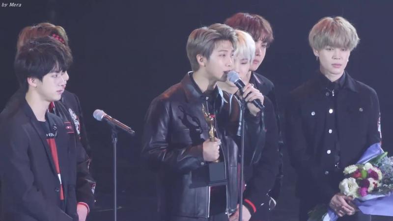`FANCAM` 180125 BTS - Daesang Award @ 2018 Seoul Music Awards.