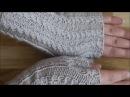 Митенки спицами узором Мелкие косички Knitting mittens