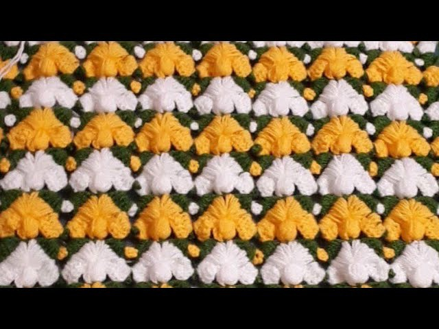 Yarım Çam modeli şal yelek battaniye lif yapımı için yeni örgü modeli