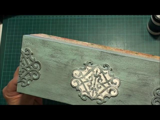 Teafilteres doboz visszamosható festékkel és 3D dekorációval - 1. rész