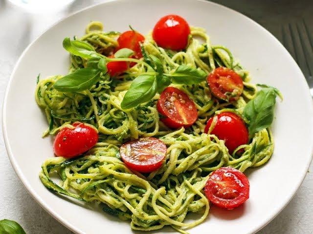 Спагетти из цукини (сыроедение)