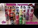 Bonecas JAPONESAS de GARRAFA- Vídeo da Parceriareciclagem