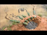 The first Trap Can Catch Alot of fish &amp Crabs And Eels By 5 Bambo With deep Hole