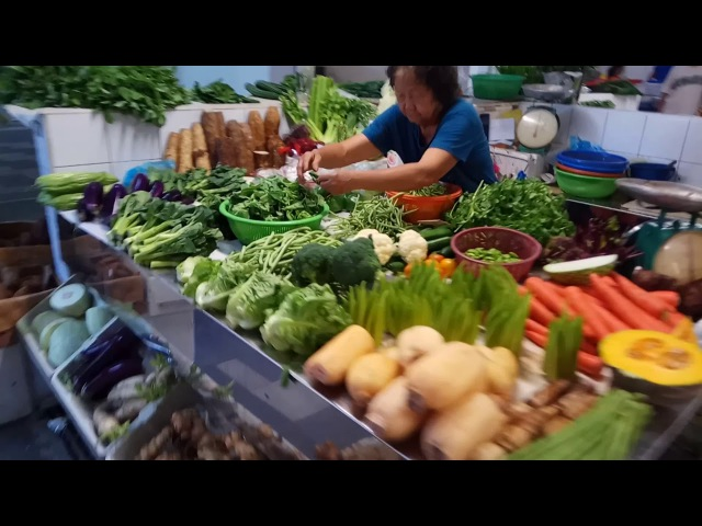 Утренний рынок Labourer to treider Джорджтаун Пенанг Малайзия