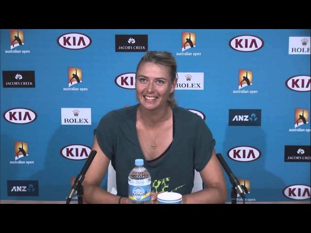 Sharapova flirts with Aussie journo