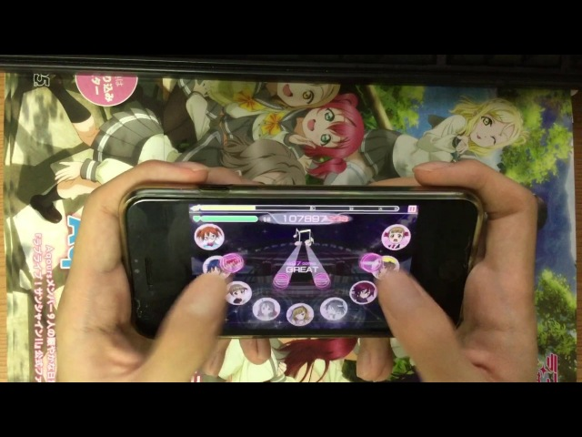 【スクフェス】 にこぷり♥女子道 [スイングアイコン MASTER] FULL COMBO (thumb play all N cards)
