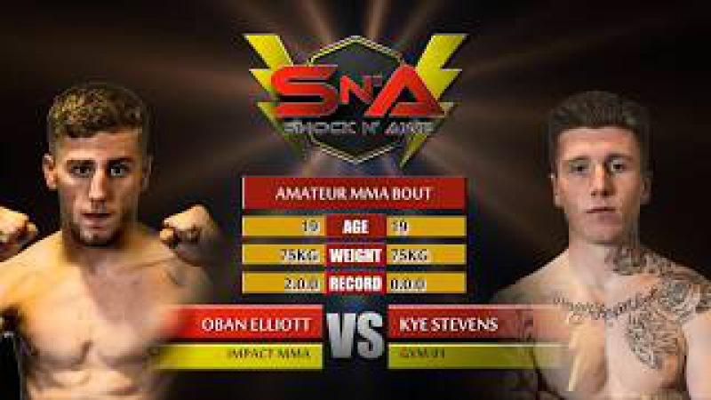 Shock N Awe 26 Oban Elliot vs Kye Stevens Amateur MMA