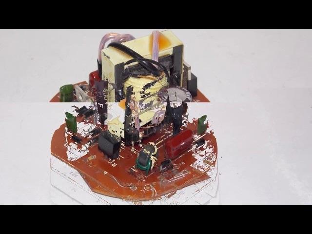 Как сделать блок питания из эконом лампы How to make a power supply from an economy lamp