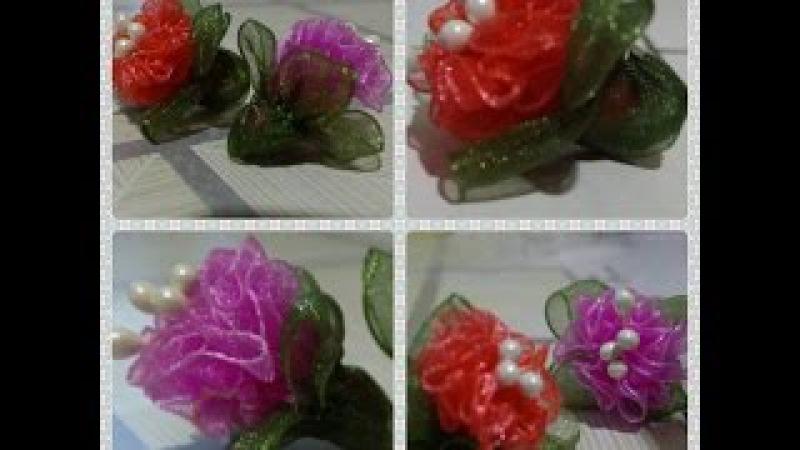 Organze Kurdele oyalarıBÜZMELİ LALE ÇİÇEĞİForex flower,health flower,holiday flower, Taksim flower