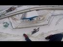 Сноубордист чуть не упал с горы возле заправки в районе авторынка
