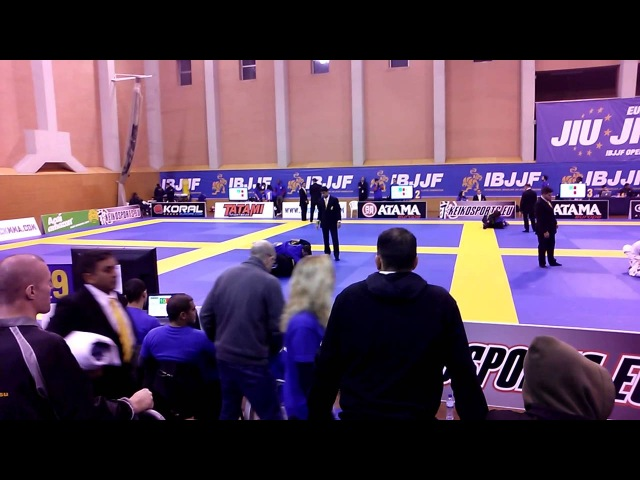 European Open BJJ 2014 Blue belt Adult Open class 1 2 Final Anton Seleznev Seif Eddine Houmine