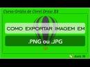 Como exportar imagem em PNG ou JPG no Corel Draw X8