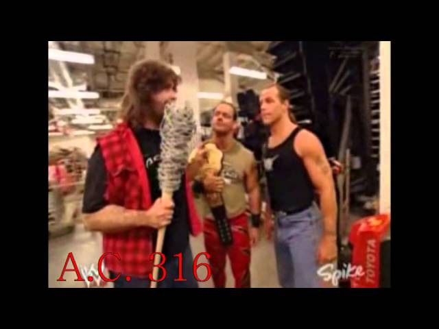 Chris Benoit, Shawn Michaels, Mick Foley Johnny Nitro segment 4/5/2004