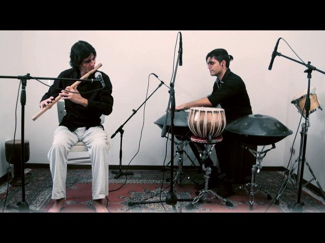 Meinl percussion, handpans and bansuri - Loris Lombardo Daniele Dubbini