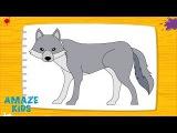 Как Нарисовать Животных Волка для Детей