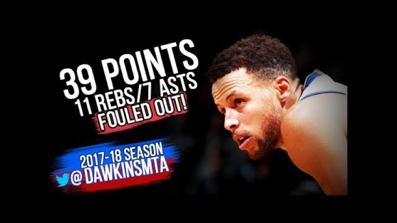 Stephen Curry Full Highlights 2017.11.19 at Nets - 39 Pts, 11 Rebs, 7 Asts, Fouled Out!