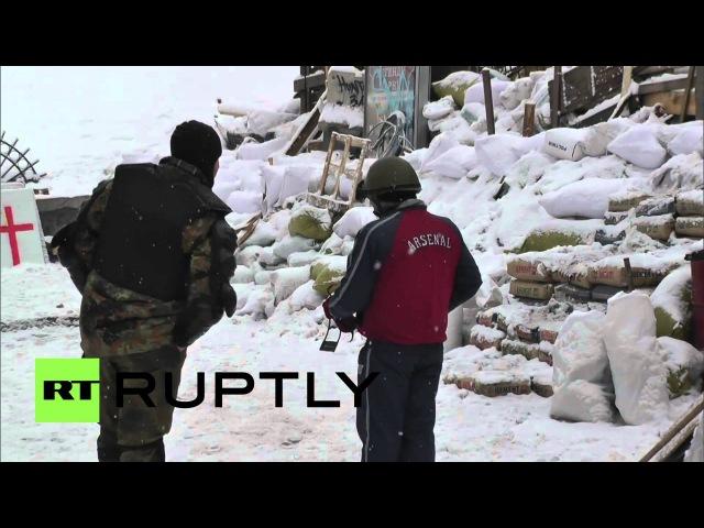 22 января 2014. Киев. Ukraine: Maidan remains occupied, but eerily quiet
