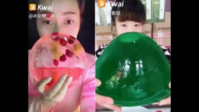 38🦄✨✨Ice eating Квай ASMR Ем лед желе шоколад Top ToppiK✨✨