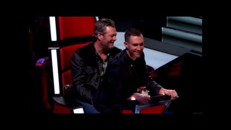 Adam Levine Blake Shelton | The Voice | crack!video