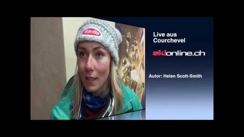 Live aus Courchevel: Interview mit RS-Siegerin Mikaela Shiffrin