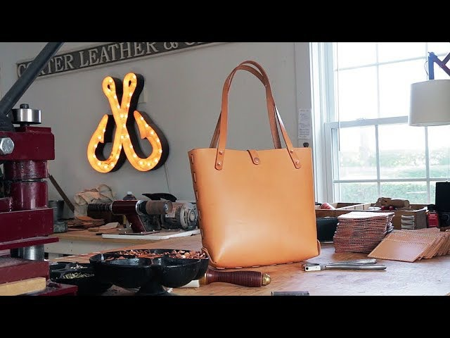 Making a Leather Bag without Sewing