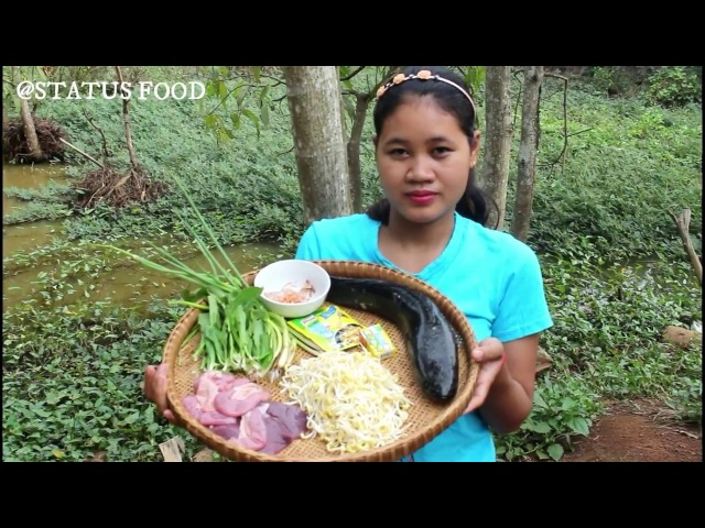 Awesome Cooking Fish Porridge W/ Bean sprouts Recipe - Cook Fish Recipes - Village Food Factory