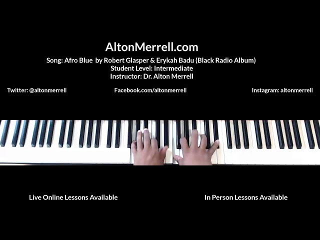Jazz Piano Lesson: Afro Blue- Robert Glasper Erykah Badu Black Radio Midi File Alton Merrell