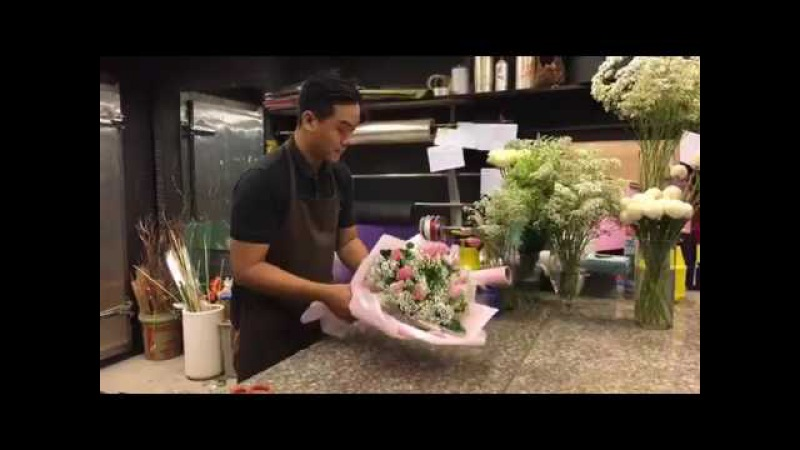 TULIP BABY (Bó hoa tulip mix hoa baby)