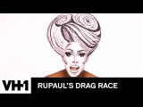 Drag Makeup Tutorial: Nina's Black & White 3D Glamour | RuPaul's Drag Race Season 9 | Now on VH1